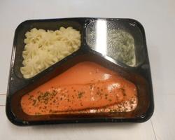 purée/saumon/épinard